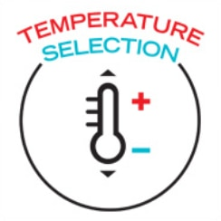 four temperature choices are available
